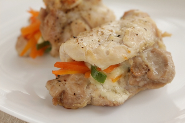 トースターパンで作る鶏と野菜のチーズ焼き
