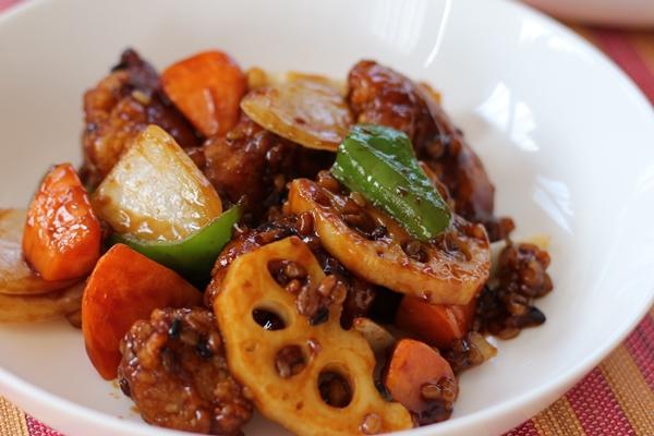 10分手料理キット鶏竜田と野菜の雑穀黒酢あんかけ