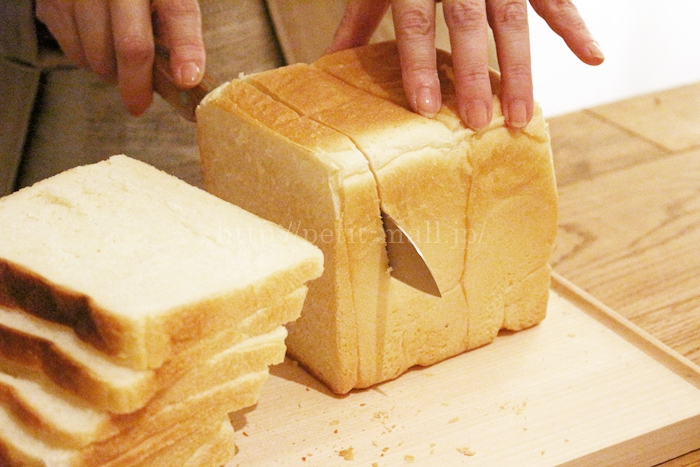 ベルメゾン ギザ刃包丁でパンを切ってみました
