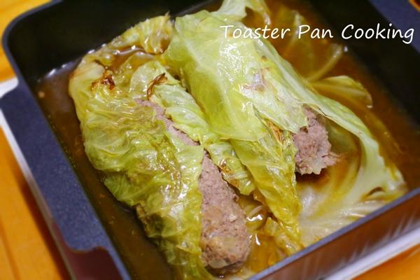 トースターパンで作るロールキャベツ