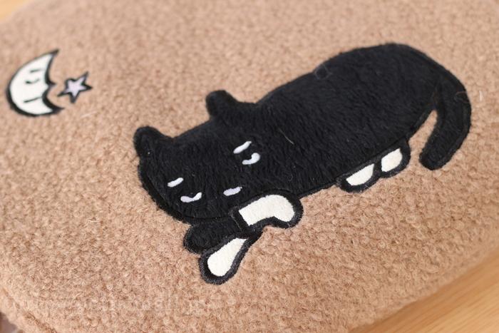 充電式湯たんぽ ネコのアップリケ付き
