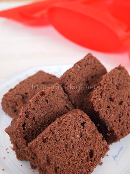 ルクエスチームケースで作るチョコレートケーキ