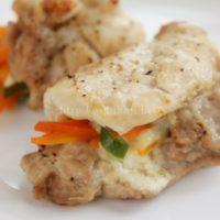 トースターパンで作る鶏肉と野菜のチーズ焼き