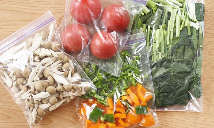 生野菜の冷凍保存方法