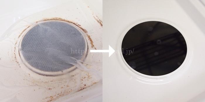 キレイの匠でコンロトッププレートの汚れを落とす