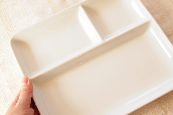 白いランチプレート(大きさ)
