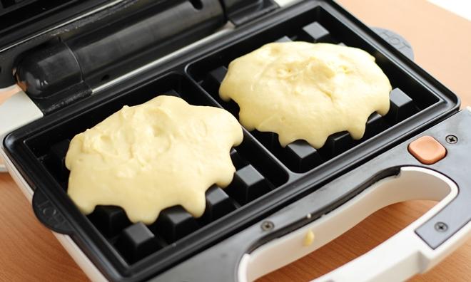 ビタントニオ ホットケーキミックスで作るワッフルのレシピ